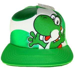 Nintendo Accessories - Nwt! Super Mario Bros Nintendo Nes Snes Yoshi Hat 63149c58ff4